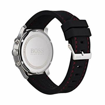 Hugo Boss Herren Chronograph Quarz Uhr mit Silikon Armband 1513525 - 3