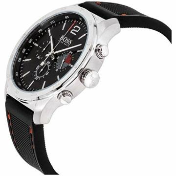 Hugo Boss Herren Chronograph Quarz Uhr mit Silikon Armband 1513525 - 4