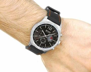 Hugo Boss Herren Chronograph Quarz Uhr mit Silikon Armband 1513525 - 5