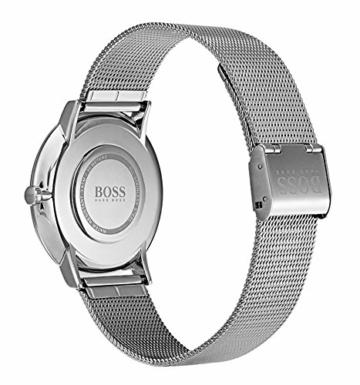 Hugo Boss Herren Datum klassisch Quarz Uhr mit Edelstahl Armband 1513514 - 4