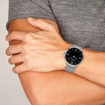 Hugo Boss Herren Datum klassisch Quarz Uhr mit Edelstahl Armband 1513514 - 6