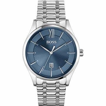 Hugo Boss Quarz Uhr mit Edelstahl Armband 1513798 - 1