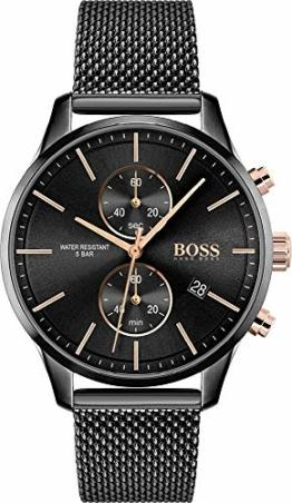 Hugo Boss Quarz Uhr mit Edelstahl Armband 1513811 - 1