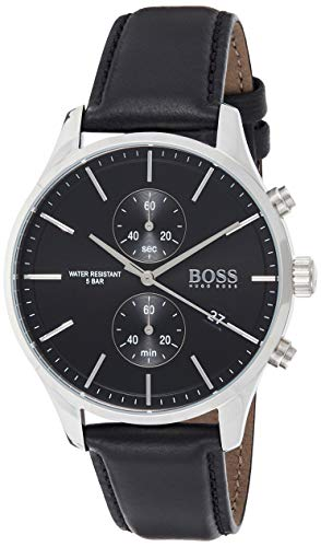 Hugo Boss Quarz Uhr mit Leder Armband 1513803 - 1