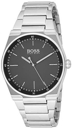 Hugo Boss Unisex Analog Quarz Uhr mit Edelstahl Armband 1513568 - 1