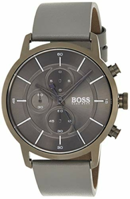 Hugo Boss Unisex Chronograph Quarz Uhr mit Leder Armband 1513570 - 1