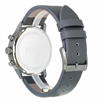 Hugo Boss Unisex Chronograph Quarz Uhr mit Leder Armband 1513570 - 2