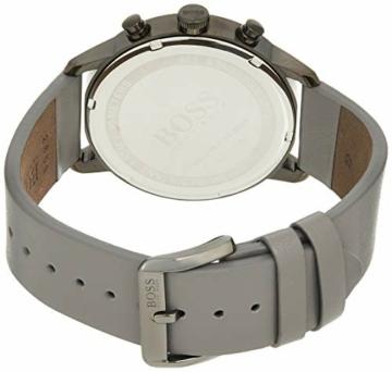 Hugo Boss Unisex Chronograph Quarz Uhr mit Leder Armband 1513570 - 3
