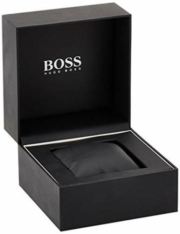 Hugo Boss Unisex Chronograph Quarz Uhr mit Leder Armband 1513570 - 6
