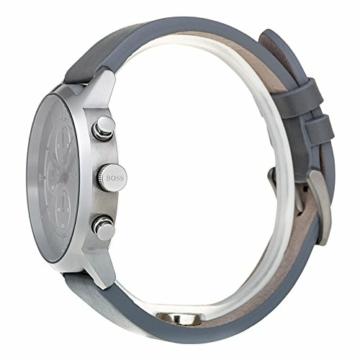 Hugo Boss Unisex Chronograph Quarz Uhr mit Leder Armband 1513570 - 7
