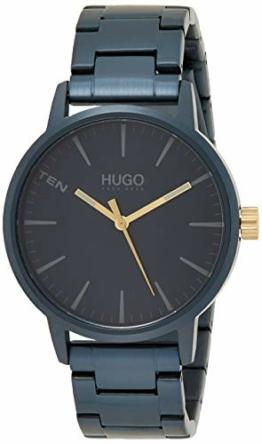 HUGO Herren Analog Quarz Uhr mit Edelstahl Armband 1530141 - 1