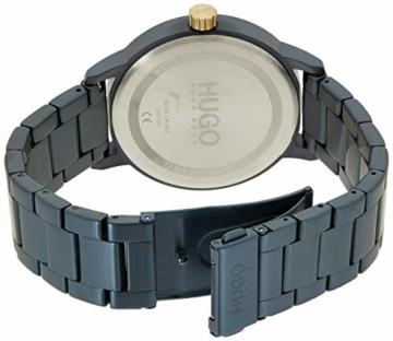 HUGO Herren Analog Quarz Uhr mit Edelstahl Armband 1530141 - 2