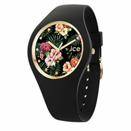 Ice-Watch - ICE flower Colonial - Schwarze Damenuhr mit Silikonarmband - 016671 (Medium) - 1