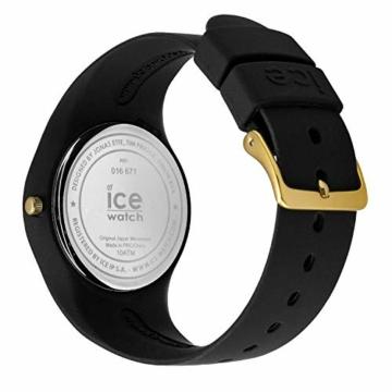 Ice-Watch - ICE flower Colonial - Schwarze Damenuhr mit Silikonarmband - 016671 (Medium) - 4