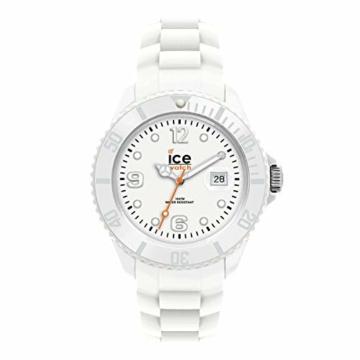 Ice-Watch - ICE forever White - Weiße Herren/Unisexuhr mit Silikonarmband - 000134 (Medium) - 1