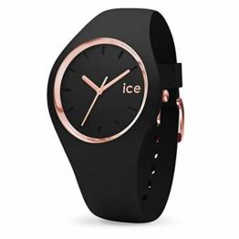 Ice-Watch - ICE glam Black Rose-Gold - Schwarze Damenuhr mit Silikonarmband - 000980 (Medium) - 1