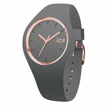 Ice-Watch - ICE glam colour Grey - Graue Damenuhr mit Silikonarmband - 015336 (Medium) - 1