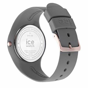 Ice-Watch - ICE glam colour Grey - Graue Damenuhr mit Silikonarmband - 015336 (Medium) - 5