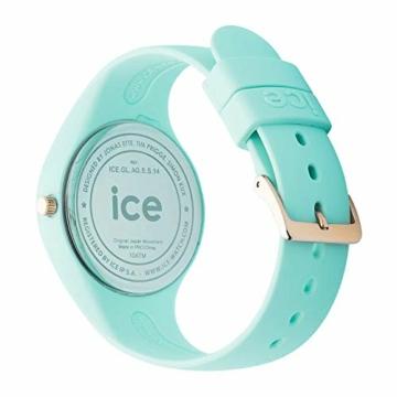 Ice-Watch - ICE glam pastel Aqua - Grüne Damenuhr mit Silikonarmband - 001068 (Medium) - 5