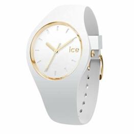 Ice-Watch - ICE glam White - Weiße Damenuhr mit Silikonarmband - 000981 (Small) - 1