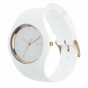 Ice-Watch - ICE glam White - Weiße Damenuhr mit Silikonarmband - 000981 (Small) - 3