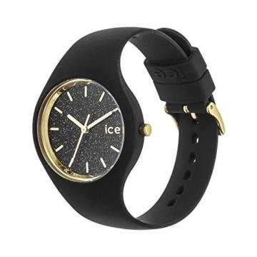 Ice-Watch - ICE glitter Black - Schwarze Damenuhr mit Silikonarmband - 001356 (Medium) - 2