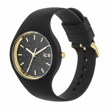 Ice-Watch - ICE glitter Black - Schwarze Damenuhr mit Silikonarmband - 001356 (Medium) - 3