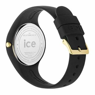 Ice-Watch - ICE glitter Black - Schwarze Damenuhr mit Silikonarmband - 001356 (Medium) - 5