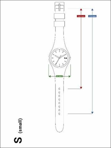 Ice-Watch - ICE glitter Black - Schwarze Damenuhr mit Silikonarmband - 001356 (Medium) - 6