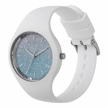 Ice-Watch - ICE lo White blue - Weiße Damenuhr mit Silikonarmband - 013429 (Medium) - 2