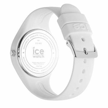 Ice-Watch - ICE lo White blue - Weiße Damenuhr mit Silikonarmband - 013429 (Medium) - 5