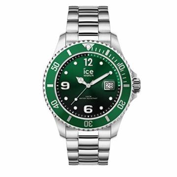 Ice-Watch - ICE steel Green silver - Grüne Herrenuhr mit Metallarmband - 016544 (Medium) - 1