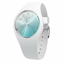Ice-Watch - ICE sunset Turquoise - Weiße Damenuhr mit Silikonarmband - 015745 (Small) - 1