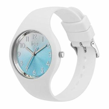 Ice-Watch - ICE sunset Turquoise - Weiße Damenuhr mit Silikonarmband - 015745 (Small) - 2