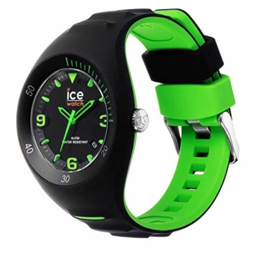 Ice-Watch - P. Leclercq Black green - Schwarze Herrenuhr mit Silikonarmband - 017599 (Medium) - 2