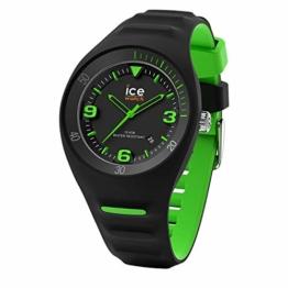 Ice-Watch - P. Leclercq Black green - Schwarze Herrenuhr mit Silikonarmband - 017599 (Medium) - 1