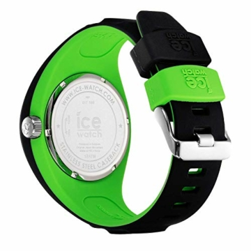 Ice-Watch - P. Leclercq Black green - Schwarze Herrenuhr mit Silikonarmband - 017599 (Medium) - 4
