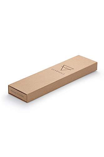 KERBHOLZ Holzuhr – Elements Collection Fritz analoger Unisex Multifunktions Uhr, Naturholz Ziffernblatt, echtes Lederarmband, Ø 40mm, Walnuss Schwarz - 6
