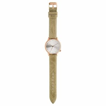 Komono Damen-Armbanduhr Analog Quarz One Size, silberfarben, grün - 2