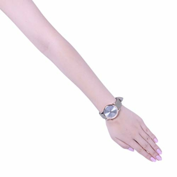Komono Damen-Armbanduhr Analog Quarz One Size, silberfarben, grün - 3