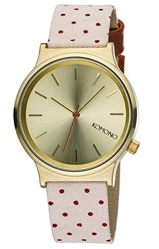 KOMONO Unisex Binär Quarz Uhr mit Stoff Armband KOM-W1837 - 1