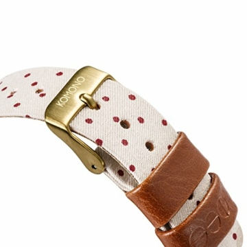 KOMONO Unisex Binär Quarz Uhr mit Stoff Armband KOM-W1837 - 4