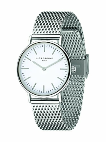 Liebeskind Berlin Damen Analog Quarz Armbanduhr mit Edelstahlarmband LT-0075-MQ - 2