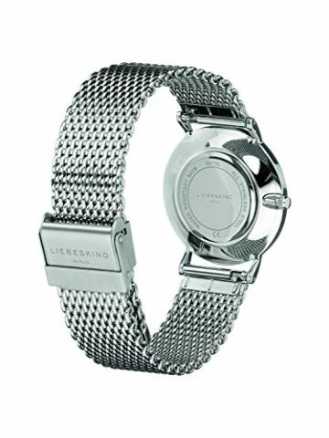 Liebeskind Berlin Damen Analog Quarz Armbanduhr mit Edelstahlarmband LT-0075-MQ - 3