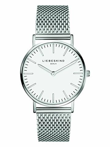 Liebeskind Berlin Damen Analog Quarz Armbanduhr mit Edelstahlarmband LT-0075-MQ - 1
