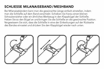 Liebeskind Berlin Damen Analog Quarz Armbanduhr mit Edelstahlarmband LT-0075-MQ - 5