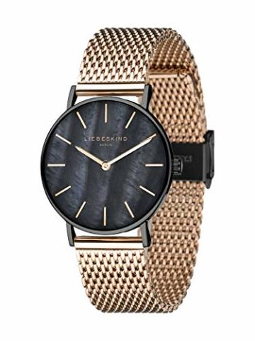 Liebeskind Berlin Damen Analog Quarz Armbanduhr mit Edelstahlarmband LT-0145-MQ - 2