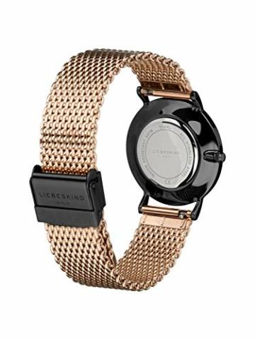 Liebeskind Berlin Damen Analog Quarz Armbanduhr mit Edelstahlarmband LT-0145-MQ - 3
