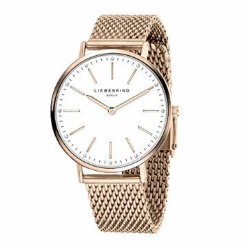 Liebeskind Berlin Damen Analog Quarz Armbanduhr mit Edelstahlarmband LT-0188-MQ - 2