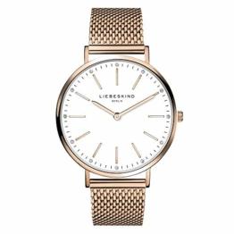 Liebeskind Berlin Damen Analog Quarz Armbanduhr mit Edelstahlarmband LT-0188-MQ - 1